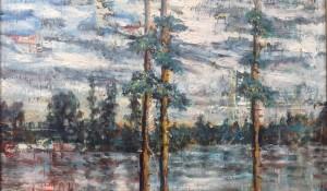 Ein Fluss in der Taiga
