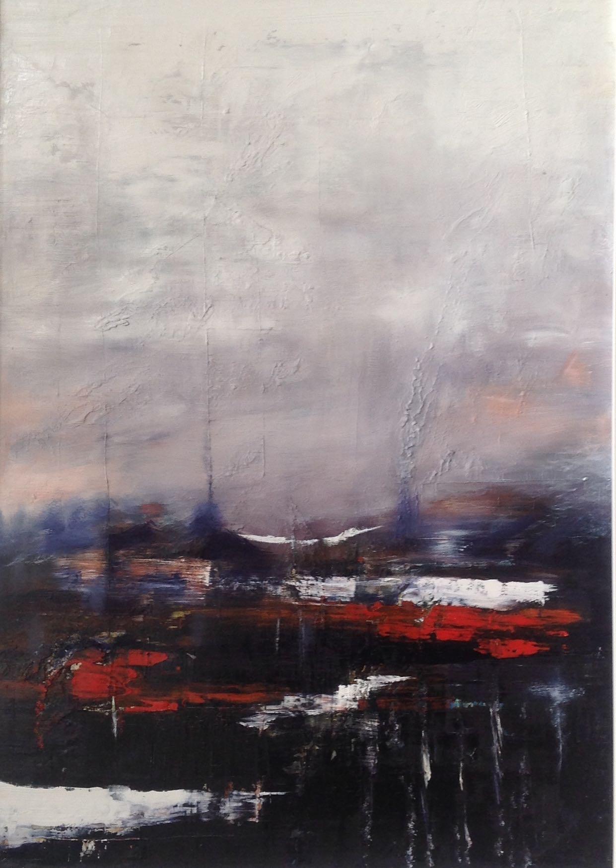Landschaft mit rotem Einfluss