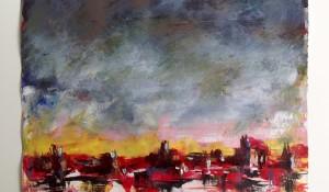 Landschaft in Rot